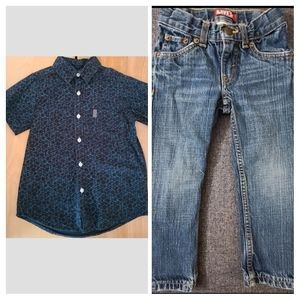 Levis 514 jeans & drill clothing shirt size